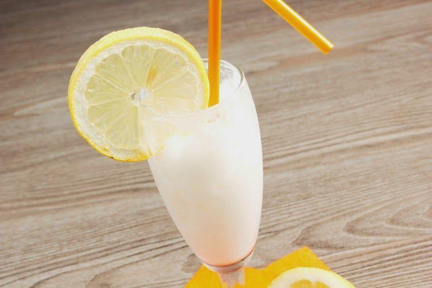 Sorbete con helado de limón